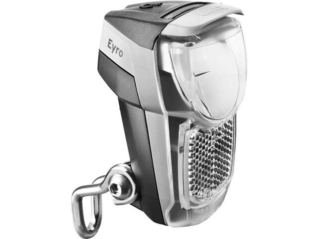 Busch + Müller Lumotec IQ Eyro Battery Front Headlight for gaffel montasje black/silver